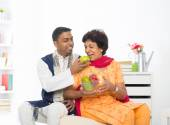 Indian woman with adult son — Stockfoto