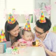 Parents with baby during birthday — Stock Photo #67770651