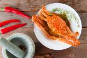 Asian style spicy chili crab — Stock Photo