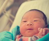 Asian newborn baby — Stock Photo