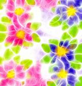 Summer flowers illustration — Stock Photo