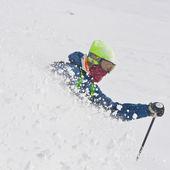Freeridery v prášku sněhu — Stock fotografie