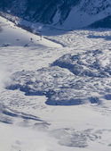 Field of clinker under the snow — Stock Photo