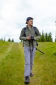 Caucasian hiker — Stock Photo
