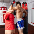 Muay thai elbow hit on mannequin — Stock Photo #53349937