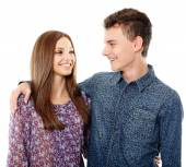 Teenage boy and his girlfriend — Stock Photo