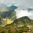 Fagaras mountains and clouds amongst them — Stock Photo #57572891
