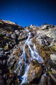 Waterfall at night — Stock Photo