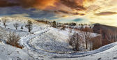 Winter countryside road — Stock Photo