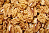 Shelled walnut kernels — Stock Photo
