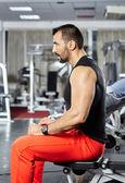 Focusing on the workout — Foto de Stock