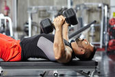 Chest and triceps workout — Stock fotografie