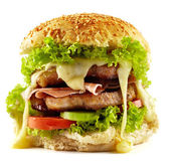 Homemade steak burger — Stock Photo