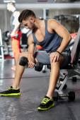 Biceps workout — Stock Photo