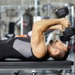 Man doing chest workout — Stock Photo #63391075