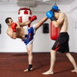 Kickbox fighters sparring in the gym — Stock Photo #63392275