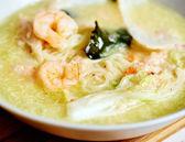 Thai prawn noodle soup — Stock Photo