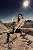 Street dancer doing moves — Stock Photo