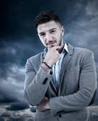 Businessman, confident even in bad times — Stock Photo