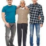 Grandfather, son and grandson — Stock Photo #69489073