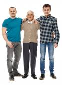 Grandfather, son and grandson — Stock Photo