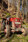Logging tractor with winch — Stock Photo