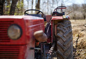 Old dirty tractor — Stock Photo