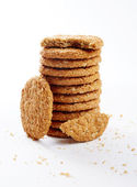 Digestive oat biscuits — Stock Photo