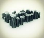 三维城市模型 — 图库照片