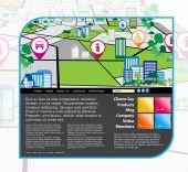 Website stad kaart achtergrond — Stockvector