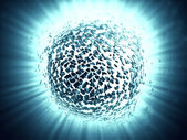 3d explosion background — Stock Photo