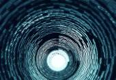 3d tunnel with light — Stock Photo