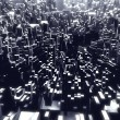 Abstract city made of cubes — Stock Photo #55985931
