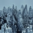 Abstract city made of cubes — Stock Photo #55985947