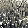 Abstract city made of cubes — Stock Photo #55985949