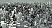 3d future city — Stock Photo
