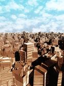 3D city landscape — Stock Photo