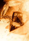 Orange 3D futuristic background — Stock Photo