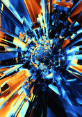 3d abstract futuristic background — Foto Stock