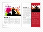Layout rivista — Vettoriale Stock