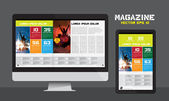 Layout magazine — Stock Vector