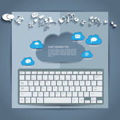 Cloud infographics — Stock Vector