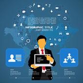 Infografia de nuvem — Vetor de Stock