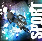 Biker on bicycle — Stock Vector