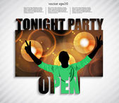 Tonight party template — Stock Vector