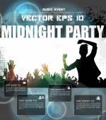 Midnight party mall — Stockvektor