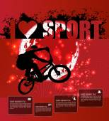 I love sport template — Stock Vector