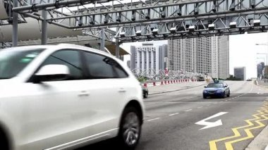 Road traffic in Singapore — Stock Video