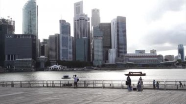 Singapore City across Marina Bay — Stock Video