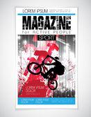 Sports magazine cover — ストックベクタ